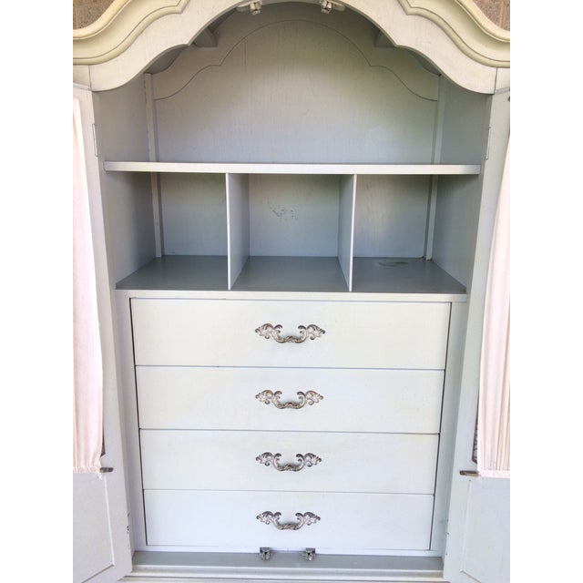 Hickory White French Provincial Armoire - Image 6 of 11