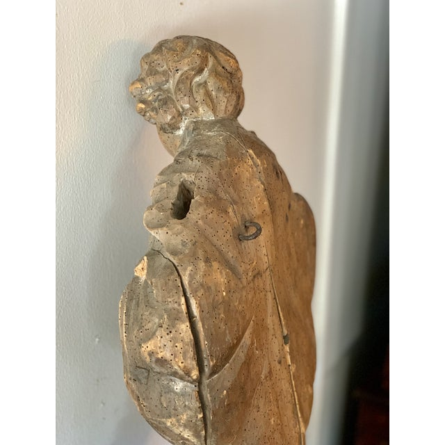 Late 18th Century Antique Carved Architectural Figure For Sale - Image 5 of 8