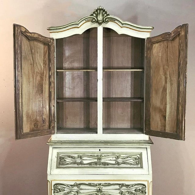 Italian Hand Painted Secretary ~ Bookcase From Torino, Italy For Sale In Dallas - Image 6 of 12