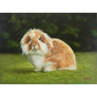 Original Oil Painting of a Bunny Bentley For Sale