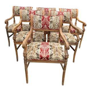 1930s Vintage Grotto Style Regency Dining Chairs- Set of 6 For Sale
