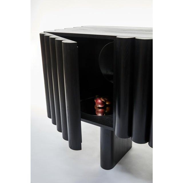 Art Deco Steven Bukowski Bellow Sideboard in Ebonized Ash For Sale - Image 3 of 5