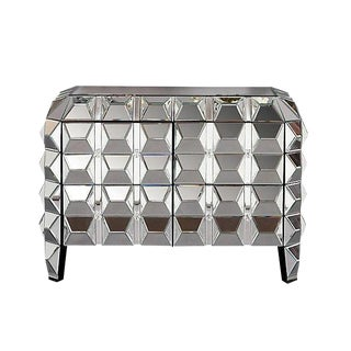 Spike Mirrored Four Drawer Cabinet Chest For Sale