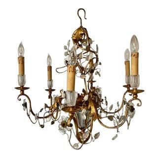 Maison Bagues Style Six Light Chandelier For Sale