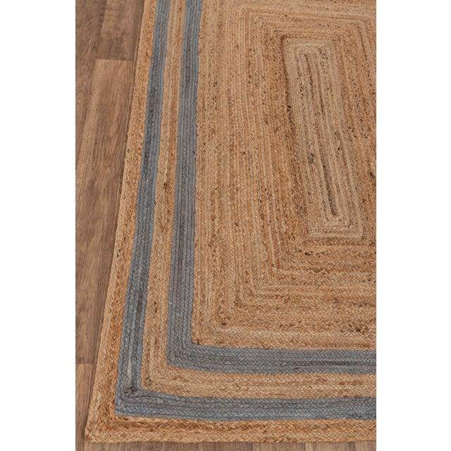2'x3' Grey Border Rectangle Jute Handmade Rug For Sale - Image 4 of 11