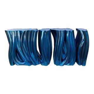 Covet Paris Monochrome Bleu Sideboard For Sale