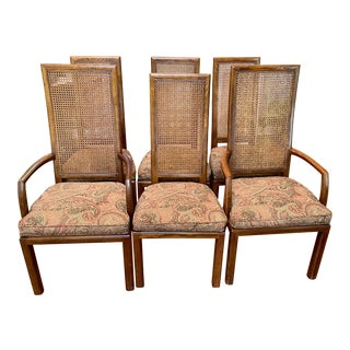 Henredon Scene One Campaign Dining Chairs - Set of 6 For Sale