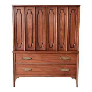 Kent Coffey Mid-Century Modern Walnut Gentleman's Chest For Sale