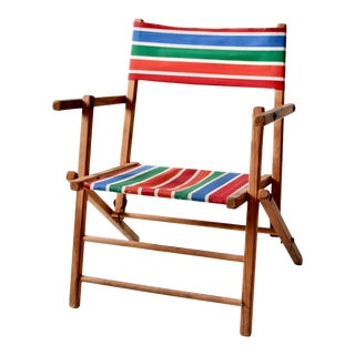 Mid-Century Kid's Folding Chair For Sale