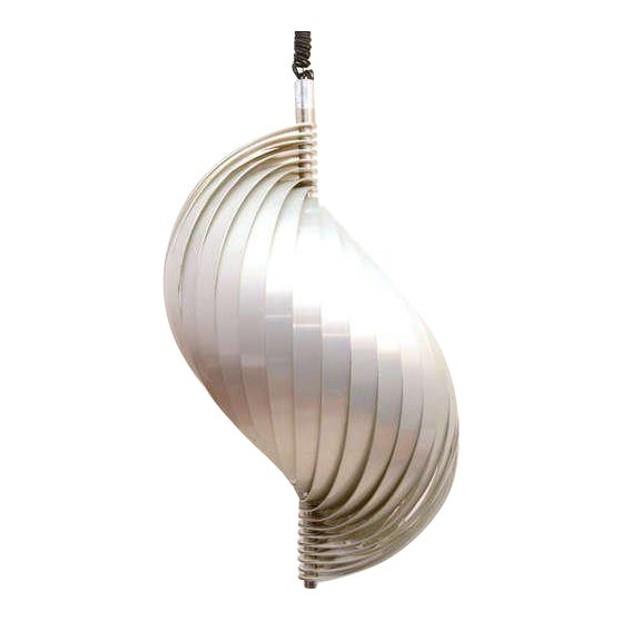 """Mid Century Modern French Pendant Chandelier by Mathieu Lamp """"S"""" Shape For Sale"""