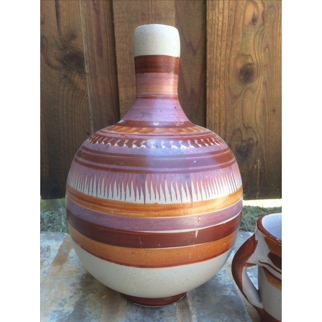 Vintage Mexican Water Jug & Cup - Image 3 of 8