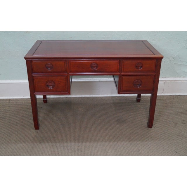 Quality Solid Rosewood Chinese Writing Desk For Sale - Image 4 of 10