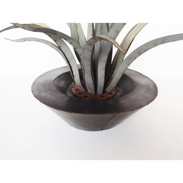 Modern Large Patinated Sculpture of a Plant For Sale - Image 3 of 9