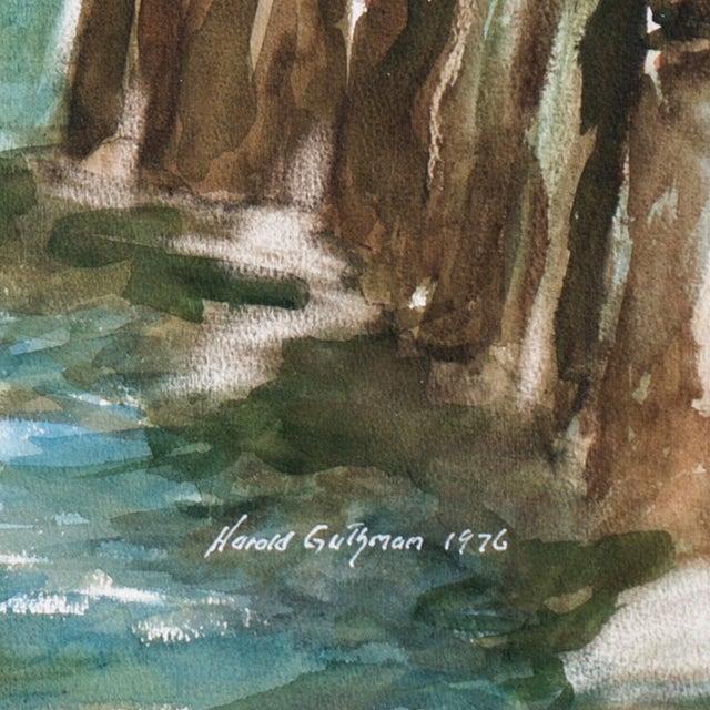 Harold Guthman Vintage 1973 Safe Harbor Painting For Sale - Image 6 of 7