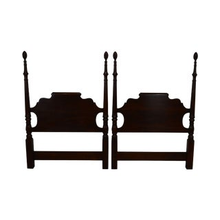 Statton Longmeadow Old Towne Cherry Pair Poster Twin Headboards For Sale