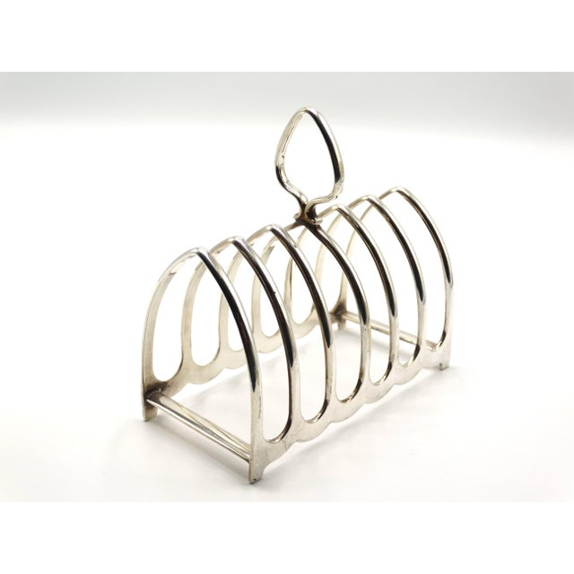 Art Deco Art Deco Silver-Plate Toast Rack / Letter Rack For Sale - Image 3 of 5