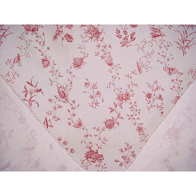 Traditional Modern Brunschwig Biscay Linen Print Seashell Upholstery Fabric- 13 Yards For Sale - Image 3 of 5