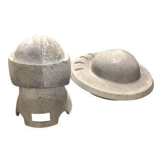 A Pair of Vintage Stone Hat Forms For Sale