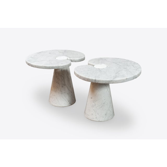 """Pair of Marble """"Eros"""" Tables by Mangiarotti For Sale - Image 11 of 11"""