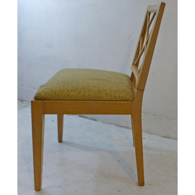 1940s Landstrom Mid-Century Modern Lattice Back Dining Chairs - Set of 8 For Sale - Image 4 of 8