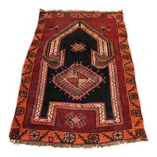 1960s Vintage Turkish Red Rug - 2′11″ × 4′5″ For Sale