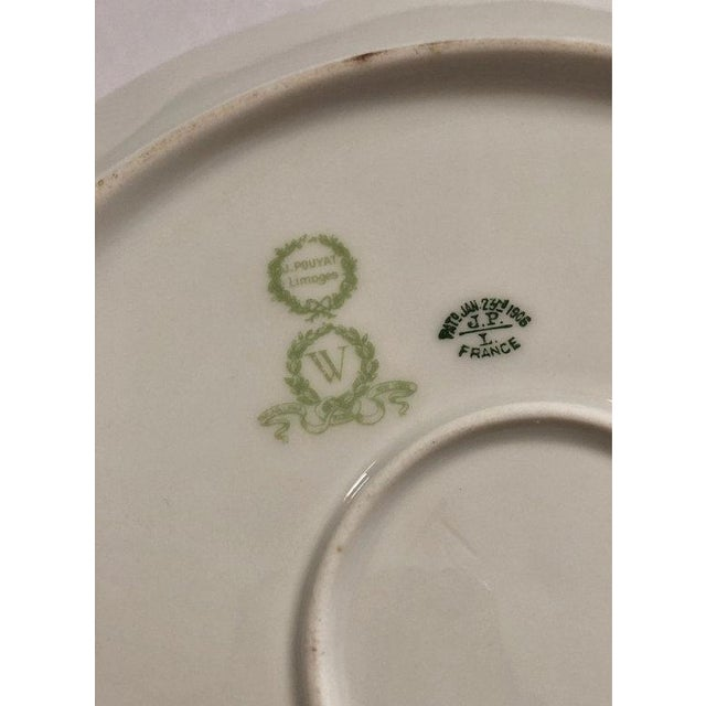 Antique Jean Pouyat Limoges Plate For Sale - Image 10 of 11