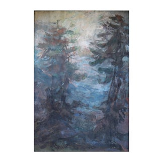 Impressionist Pine Tree Landscape Painting