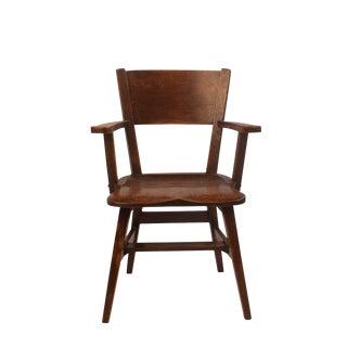 1910s Arts & Crafts Oak Armchair For Sale