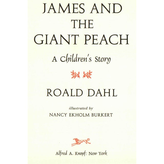 """1960s 1961 """"James and the Giant Peach"""" Coffee Table Book For Sale - Image 5 of 6"""