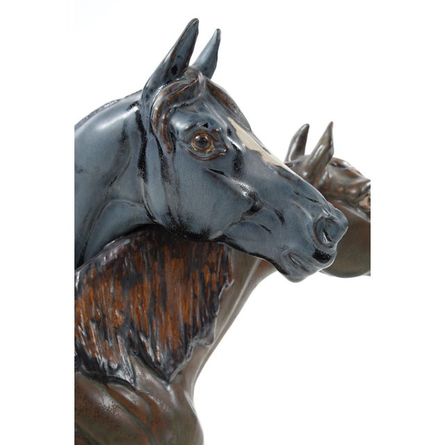 "Jose Roig Porcelain ""Horse Heads"" - Image 9 of 9"