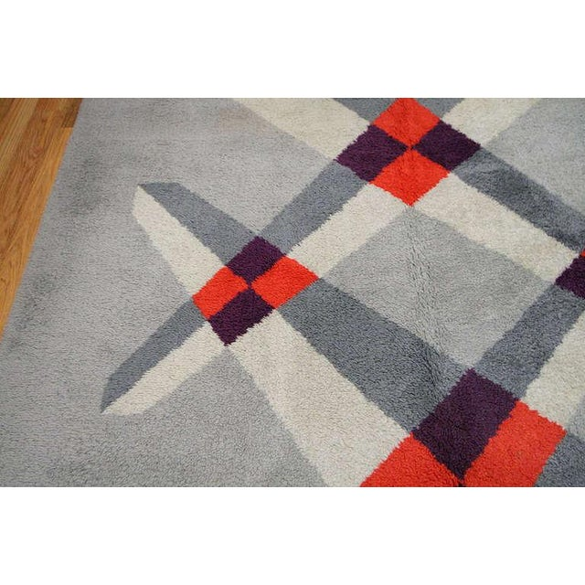 Pierre Cardin Vintage French Art Deco Carpet by Pierre Cardin - 6′9″ × 9′2″ For Sale - Image 4 of 10