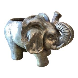 Vintage 1970s Elephant Planter For Sale