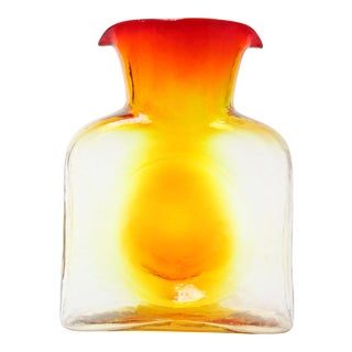 Vintage Blown Glass Amberina / Tangerine Double Spout Pitcher by Blenko