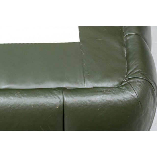 2010s Contemporary Avery Boardman Queen Size Leather Platform Bedframe For Sale - Image 5 of 11