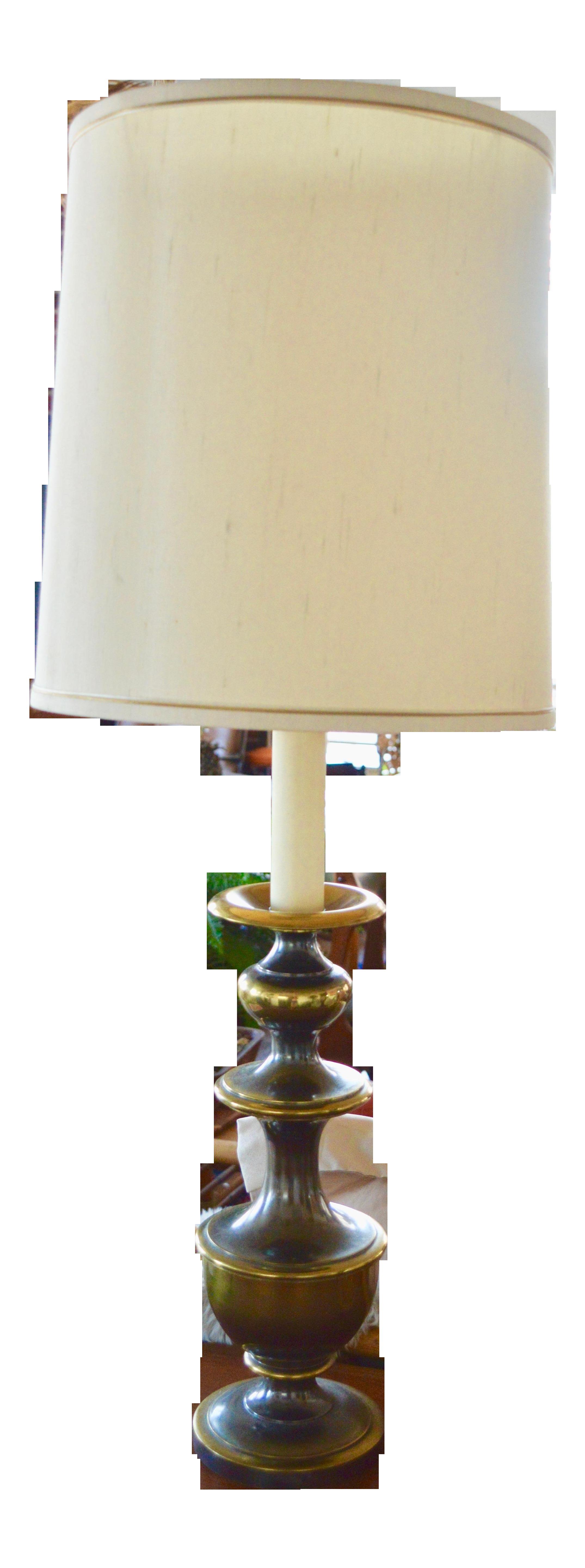 Leviton Olive Green Bronze Candlestick Table Lamp Chairish