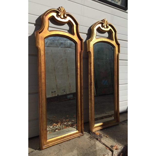 Vintage Gold Mirrors- A Pair - Image 4 of 6