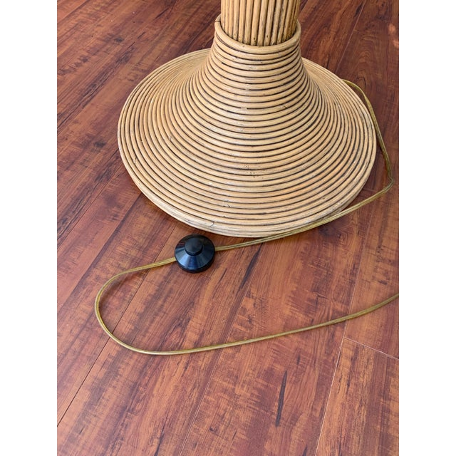 Mario Lopez Torres Rattan Palm Tree Floor Lamp For Sale - Image 9 of 10