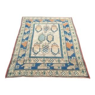 "Oushak Handmade Turkish Carpet - 4'4"" x 6'1"""