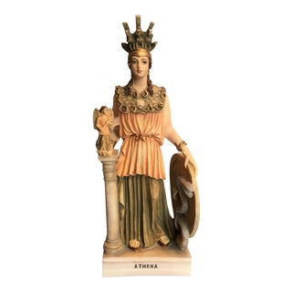 Alabaster Statue of Goddess Athena For Sale