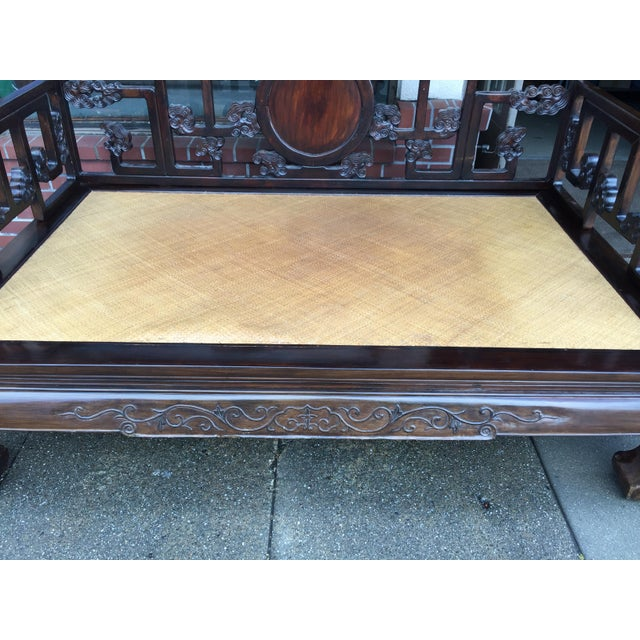 Antique Carved Opium Bed - Image 3 of 11