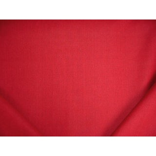 Traditional Ralph Lauren Sunbaked Linen Scarlet Red Upholstery Fabric - 7y For Sale