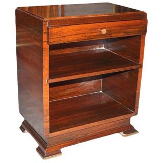 1940s Vintage Maxime Old French Art Deco Palisander Nightstand For Sale