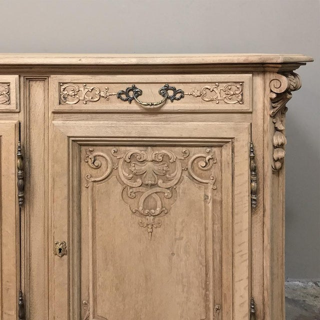 19th Century Country French Regence Stripped Oak Buffet For Sale - Image 11 of 13