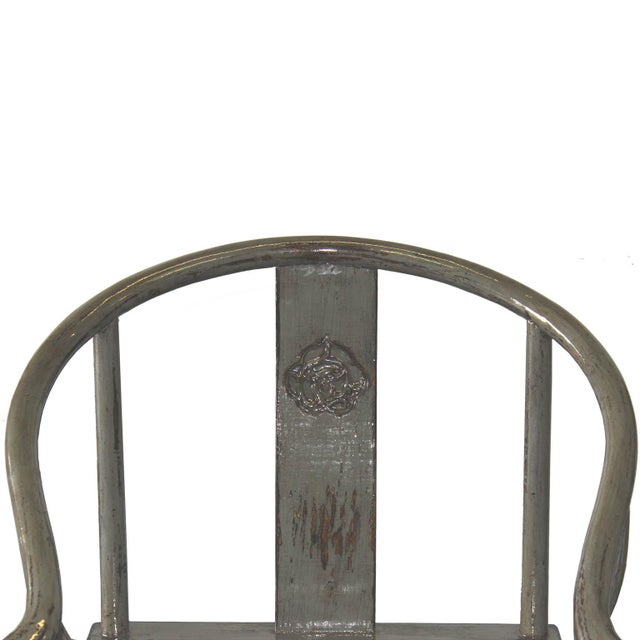Gray Horseshoe Chairs - A Pair - Image 2 of 5