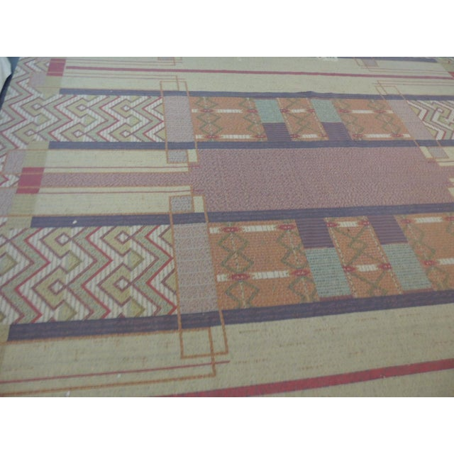 Frank Lloyd Wright Arts & Crafts Inspired Rug - 8′6″ × 11′2″ For Sale - Image 5 of 8