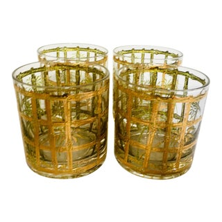 Culver Mid-Century 22k Gold Glasses - Set of 4 For Sale
