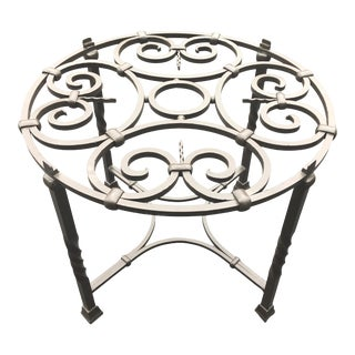 Vintage Hand Wrought Iron Side Table. For Sale