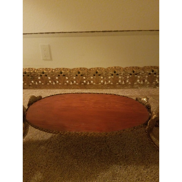 1960s Vintage Mermaid Coffee Table Hollywood Regency For Sale - Image 5 of 7
