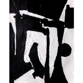 Abstract Black and White Contemporary Painting by Brian Elston For Sale