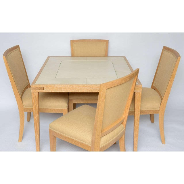 Frank Game Table and Set of 4 Chairs by Mattaliano For Sale - Image 10 of 10